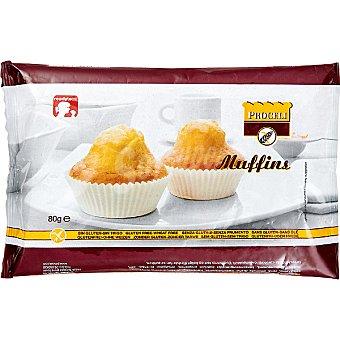 Proceli Muffins sin gluten envase 80 g 2 unidades