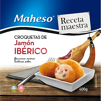 Maheso Receta maestra croquetas de jamón ibérico. bolsa 400 g Bolsa 400 g