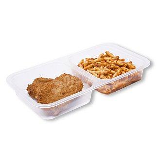 BO DE DEBO dúo de macarrones y libritos de jamón y queso bandeja 350 g