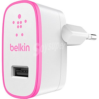 Belkin Adaptador de corriente en color rosa