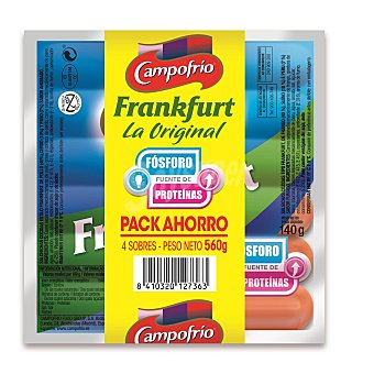 Campofrío Salchicha frankfurt originales Pack 4 x 140 g