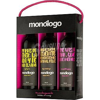 Monólogo vino tinto crianza especial edition D.O. Rioja Estuche 3 botellas 75 cl