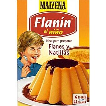 EL NIÑO Flanín Preparado para cocinar flan o natillas 6 sobres para 24 flanes Estuche 195 g