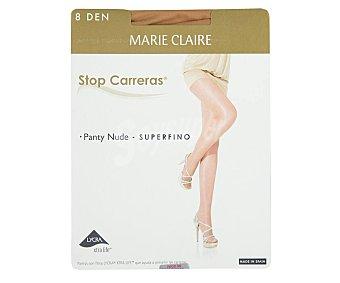 MARIE CLAIRE Stop Carreras Panty fino, 8 den, color maquillaje, talla M.