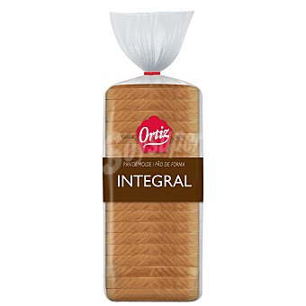 Ortiz Pan de molde integral Envase 480 g