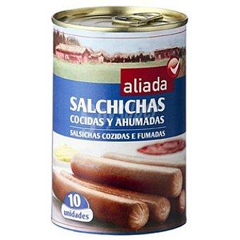 Aliada Salchichas cocidas y ahumadas lata 230 g neto escurrido 10 unidades