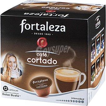 Fortaleza Café cortado intensidad ápsulas compatibles con cafeteras Dolce Gusto 9 caja 12 c