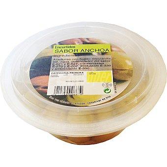Guerra Aceitunas manzanilla con sabor a anchoa Tarrina 200 g
