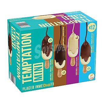 DIA Helado mini bombón mix temptation Caja 12 uds 432 gr