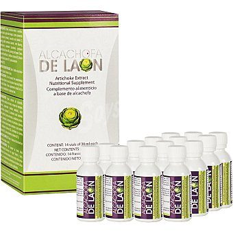 ALCACHOFA DE LAON complemento alimenticio a base de concentrado de alcachofa 14 viales envase 420 ml