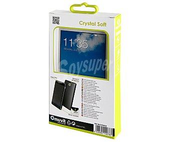 Muvit Funda trasera Crystal soft, transparente, compatible con Huawei Y6