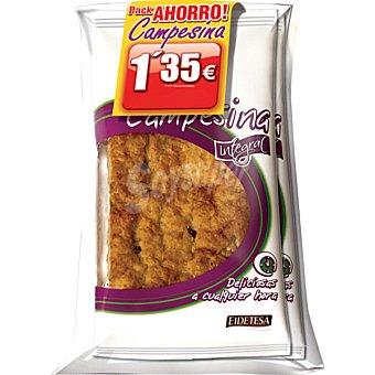 Eidetesa Campesinas integrales con cereales y frutos rojos Pack ahorro 2 unidades 180 g