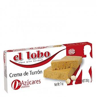 El Lobo Crema de Turrón sin azúcar añadido sin gluten 200 G 200 g