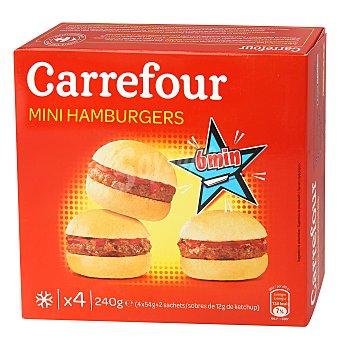 Carrefour Mini hamburguesas 4 ud 240 gr