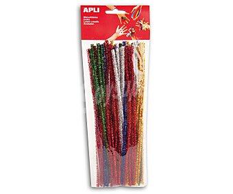 APLI Bolsa de 50 limpiapipas con brillantina y de colores surtidos 1 unidad