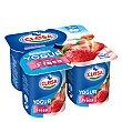 Yogur fresa sin gluten Pack 4x125 g CLESA