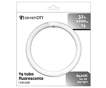 SEVENON Tubo fluorescente circular 32W, con casquillo G10Q y luz fría 1 unidad