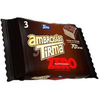 Tirma Ambrosia zero 70% cacao Paquete 3 unid