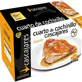 CASCAJARES 1/4 de cochinillo asado con aceite de oliva virgen extra para 2 raciones Envase 950 g