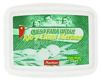 Auchan Queso para Untar con Ajo y Finas Hierbas 150 Gramos