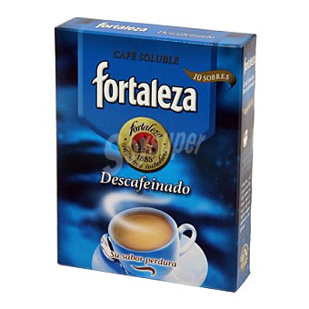 Fortaleza Café soluble descafeinado 10 ud
