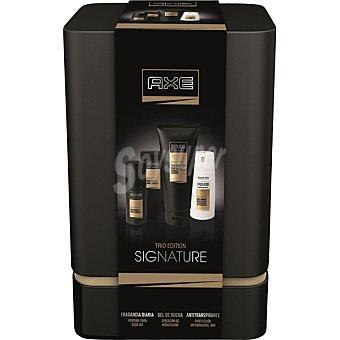 Axe Pack Signature con desodorante + gel tubo 200 ml + fragancia diaria spray 100 ml Spray 150 ml