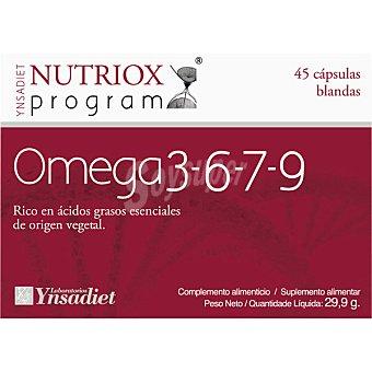 NUTRIOX Omega 3-6-7-9 Cardioprotector reduce el colesterol blister  45 cápsulas (30 g)