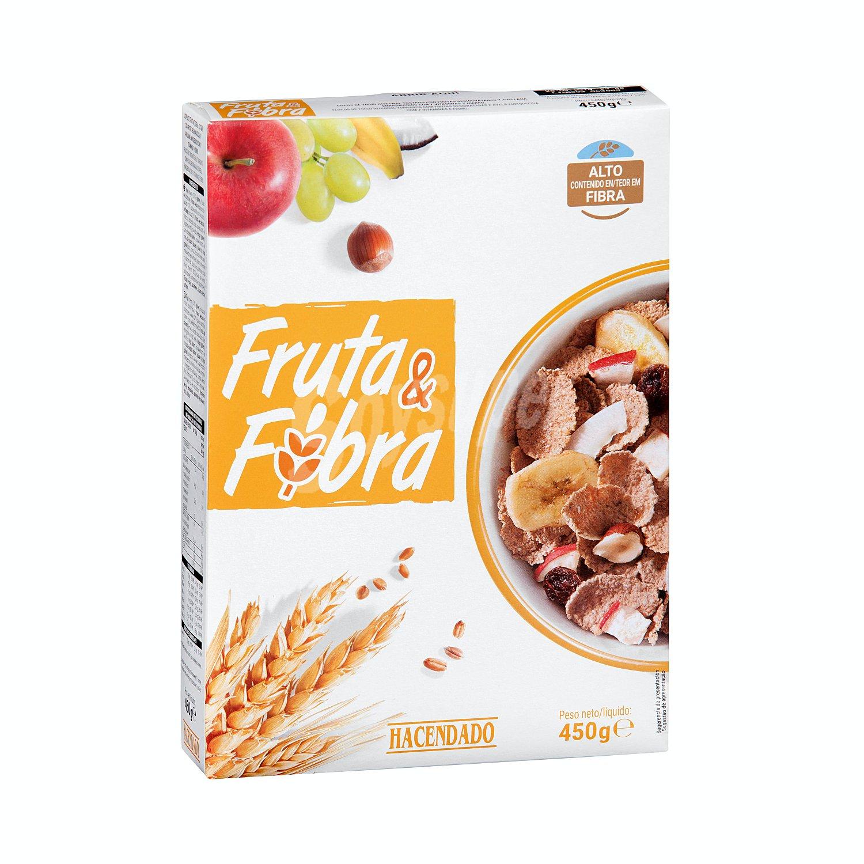 Hacendado Cereal Copos Trigo Integral Frutas Caja De 450 G