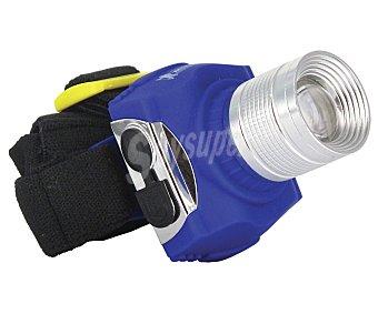 MICHELIN Linterna frontal con cabezal y foco ajustables y batería recargable. Incluye cargador de corriente, coche y bolsa de protección Linterna frontal led