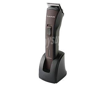 TAURUS PERSEO Barbero, alimentación con Batería, uso en seco y mojado, 1 peine guía de 2-6 mm, cuchillas de acero inoxidable de alta resistencia, base de carga, hasta 40 min de autonomía,