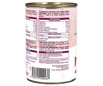 Auchan Comida Húmeda para Gato de Paté con Buey e Hígado Lata 400 Gramos
