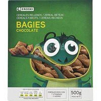 Eroski Bagies rellenos de chocolate Caja 500 g