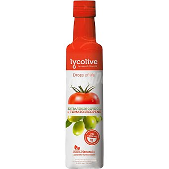 LYCOLIVE Aceite de oliva virgen extra con licopeno Botella 250 ml