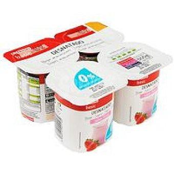 Eroski Basic Yogur desnatado de fresa Pack 4x125 g