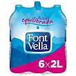 Agua mineral natural Pack 6 botellas x 2 l  Font Vella