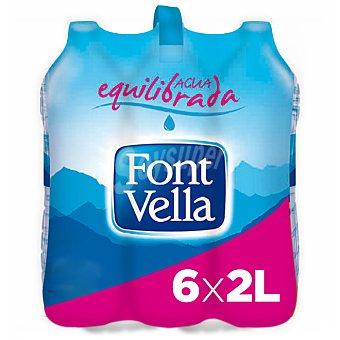Font Vella Agua mineral natural Pack 6 botellas x 2 l