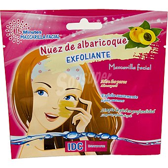 IDC INSTITUTE Mascarilla facial exfoliante con Nuez de albaricoque abre los poros exfolia suavemente y limpia en profundidad Envase 15 ml
