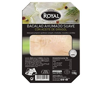 Pescados Royal Bacalao ahumado en aceite con aceite de oliva Bandeja de 100 gramos