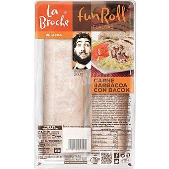 LA BROCHE Fun Roll flautas de carne barbacoa con bacon 2 unidades envase 275 g 2 unidades