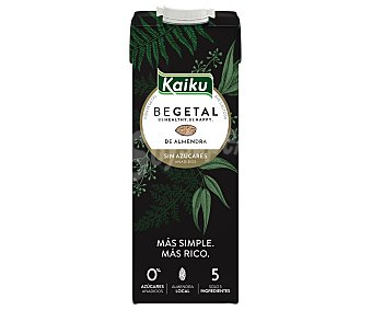 Kaiku Begetal bebida de almendra sin azúcares añadidos Brik 1 l