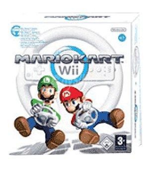 Nintendo Juego mario kart + volante wii