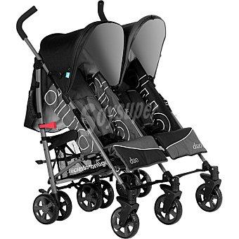 INNOVACIONES MS 21115 Silla de paseo gemelar en color gris y negro