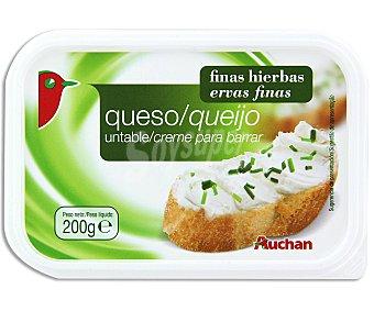 Auchan Queso para untar Finas Hierbas 200 Gramos