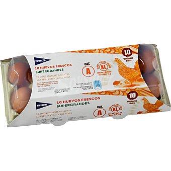 Hipercor Huevos blanco moreno clase XL estuche 10 unidades Estuche 10 unidades