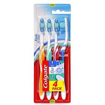 Colgate Cepillo dental Triple Accion Blister 4 uds