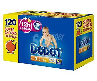 Dodot Pañales talla 4 para bebés de 9 a 15 kilogramos 120 unidades