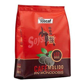 Toscaf Café natural monodosis 32 ud
