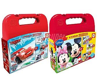 Disney Surtido Disney de 4 puzzles evolutivos en maleta de plástico, Educa 1 unidad