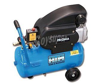 HTM Compresor con potencia de 2 caballos y lubrificado, con capacidad para 24 litros de aire, modelo PB-C24CA 1 unidad