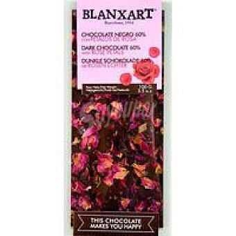 BLANXART Chocolate negro con pétalos de rosa 100 g
